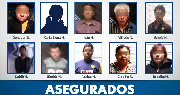 SSP detiene a diez personas por robo a comercio