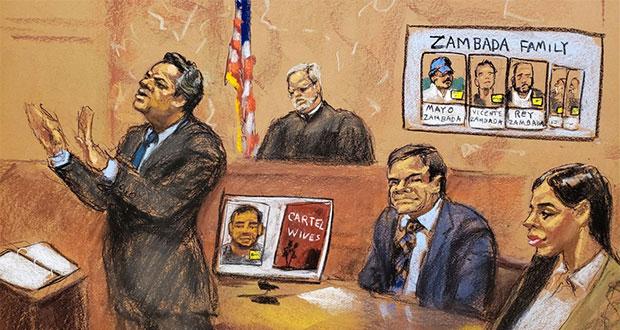 """Testigos mintieron, asegura abogado de """"El Chapo"""" a jurado en EU"""