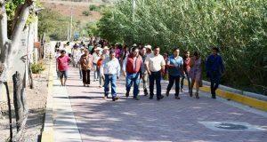 Inauguran adoquinamiento de calle en colonia de Huaquechula
