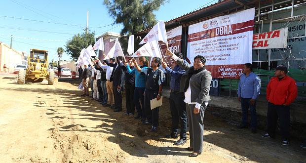 Inician obras de adoquinamiento en calles de San Andrés Cholula
