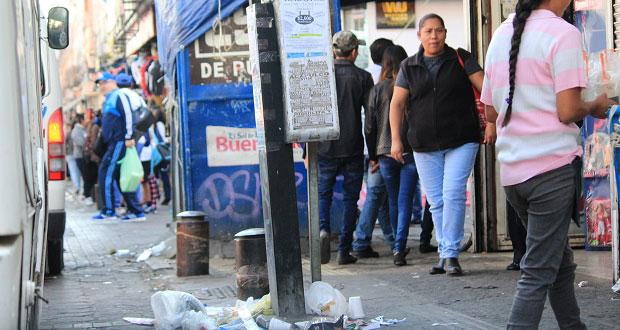 Basura y ambulantes en CH, quejas de turistas que visitaron Puebla