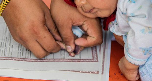 Puebla, 3er estado con más población sin acta de nacimiento: Unicef