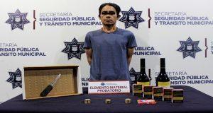 Detienen a supuesto asaltante de Oxxo en Puebla capital