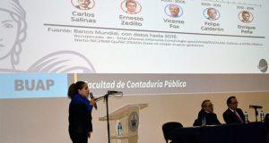 En la BUAP, analizan perspectiva económica y fiscal de México