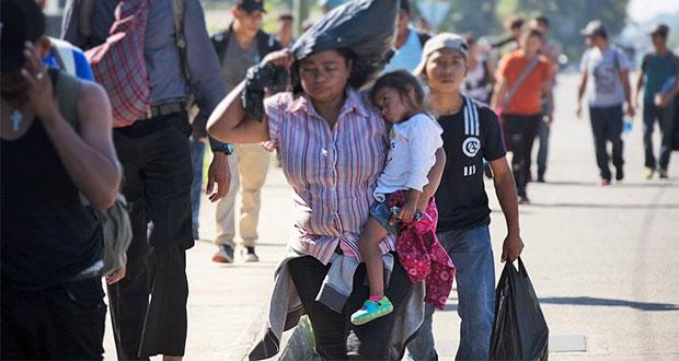 Arriban a CDMX mil 923 migrantes centroamericanos de nueva caravana