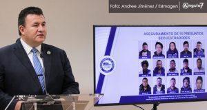 FGE frustra nueve secuestros y detiene a 43 personas durante enero