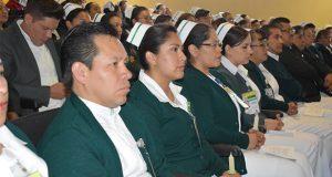 IMSS Puebla reconoce labor de enfermeros en San José y La Margarita