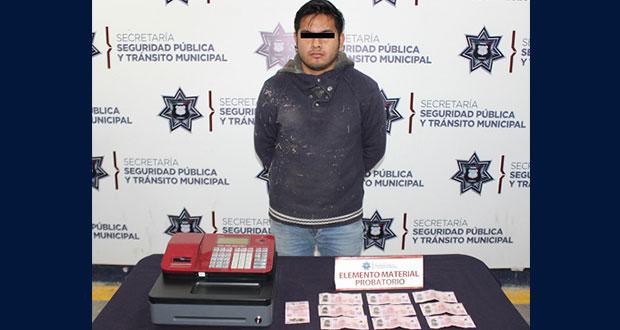 Detienen presunto responsable de robo a negocio en colonia Reforma