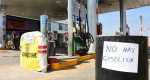 Sin combustible, 42% de gasolineras