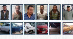 SSP detiene a 9 personas por poseer autos robados en Puebla capital