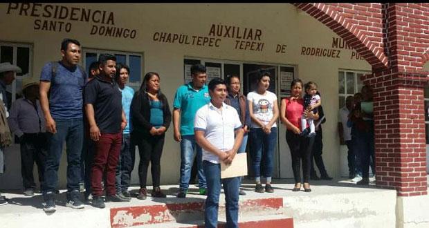 Edil de Tepexi invita a presidentes auxiliares a trabajar unidos