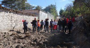Comienza pavimentación de calle Allende en Tepexi de Rodríguez