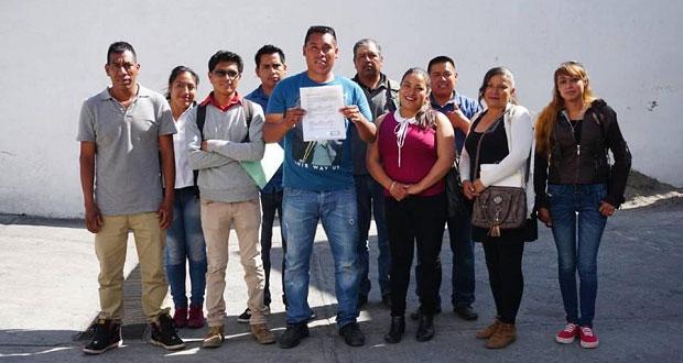 Inscriben primera planilla para elecciones en Coyula, Atlixco