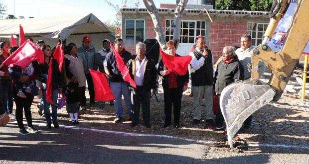 Inicia ampliación de red de agua en Tula, Tepexi de Rodríguez