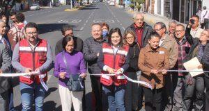 Comuna poblana entrega rehabilitación de la avenida 15 de Mayo