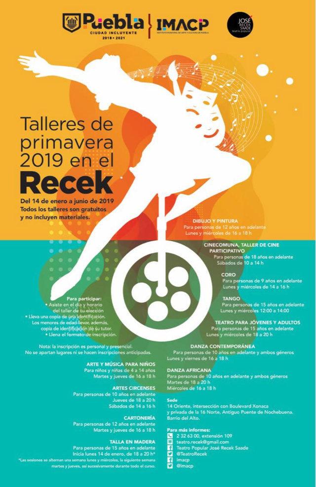 Ayuntamiento de Puebla impartirá 11 talleres de arte y baile