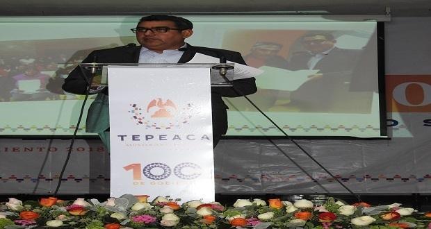 Alcalde de Tepeaca rinde su primer informe tras 100 días de gobierno