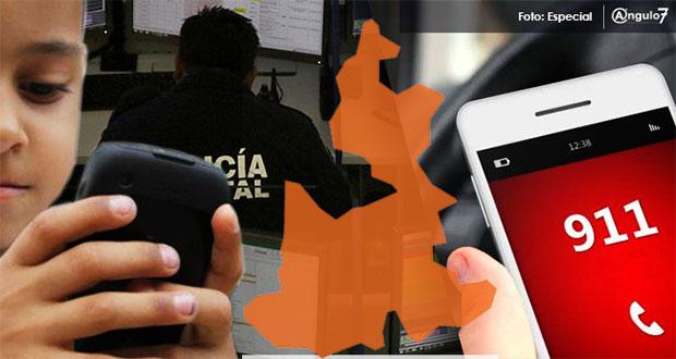 Puebla, en primeros lugares del país con más llamadas al 911 sin proceder