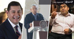 AMLO evita pronunciarse a favor de Barbosa o Armenta para la gubernatura