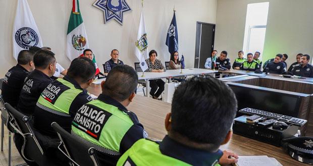 Asumen nuevas funciones 55 mandos medios en la Ssptm de Puebla