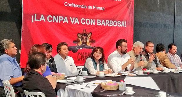 CNPA respalda a Barbosa para que otra vez sea candidato de Morena