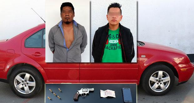 Caen en Coronango dos ligados a robo de auto y plagio de conductora
