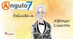 Caricatura: Ángulo 7 felicita a Alfonso Cuarón