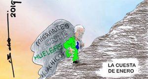 Caricatura: Así inició el 2019 AMLO