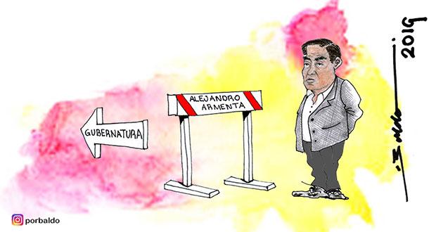 Caricatura: El obstáculo de Barbosa para la gubernatura