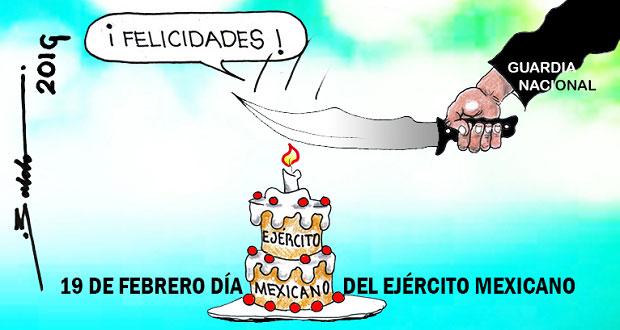 Caricatura: Guardia Nacional invitada al festejo del Ejército