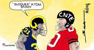 Caricatura: Reto a la CNTE
