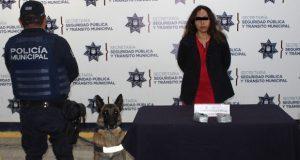 Detienen a mujer con 850 gramos de posible cocaína en la CAPU