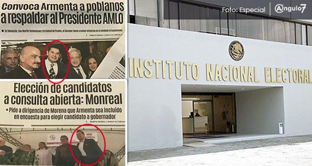 Morena denuncia en INE promoción por destape de Armenta y se deslinda
