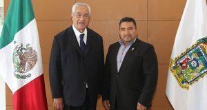 Pacheco y diputado del PT dialogan sobre infraestructura educativa