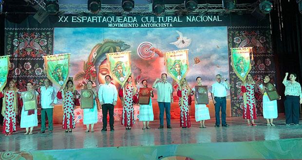 Se corona Puebla en Espartaqueada Cultural Antorchista