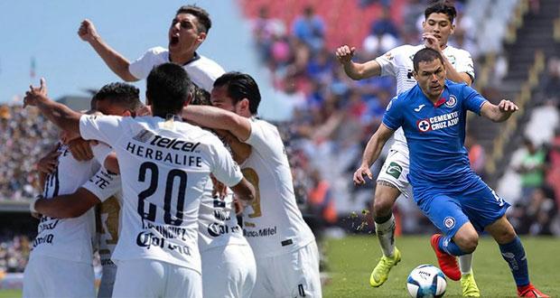 Pumas se quita paternidad del América y Cruz Azul se atora
