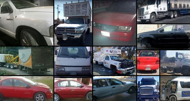 En 11 municipios, SSP recupera 23 vehículos con reporte de robo