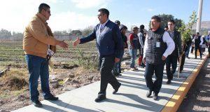 En Tepeaca, concluye construcción de guarniciones y banquetas