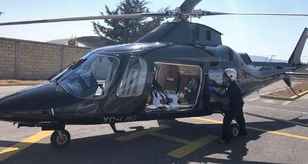 Aeronaves de gobierno estatal atienden emergencias en 2 municipios