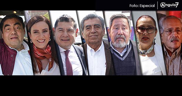 Barbosa, De la Sierra, Armenta y 4 más buscan candidatura de Morena en Puebla
