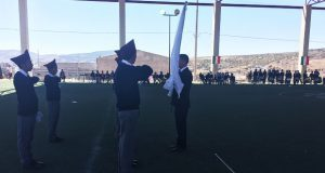 Antorcha realiza concurso de escoltas en centro escolar de Ocoyucan