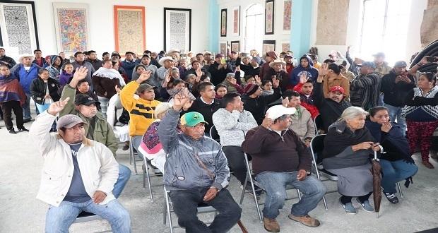 En consulta indígena, acuerda destino de recursos en Pahuatlán