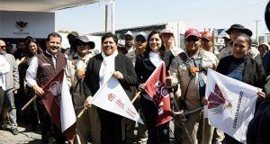 En San Andrés, ediles inician la rehabilitación de recta a Cholula