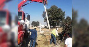 Avanza electrificación de calles en colonia Ampliación 2 de Marzo
