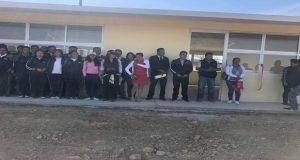 Inauguran tres aulas en telebachillerato de Soltepec