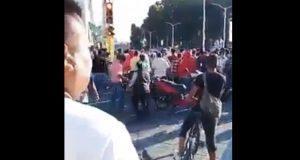 Intento de linchamiento en Huejotzingo deja cuatro policías golpeados