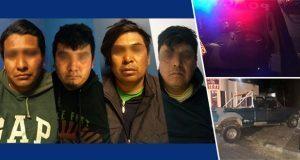 Ssptm de San Andrés Cholula detiene a cuatro presuntos ladrones