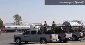 Resguardan instalaciones de Pemex en Parque Industrial Puebla 2000