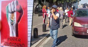 Sin éxito, marcha contra gobierno de Claudia Rivera