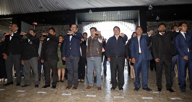 Toman protesta presidentes auxiliares en San Andrés Cholula